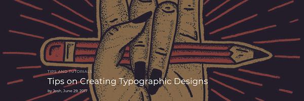 Typografische Designs erstellen