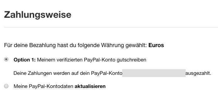 PayPal-Infos aktualisiert 2