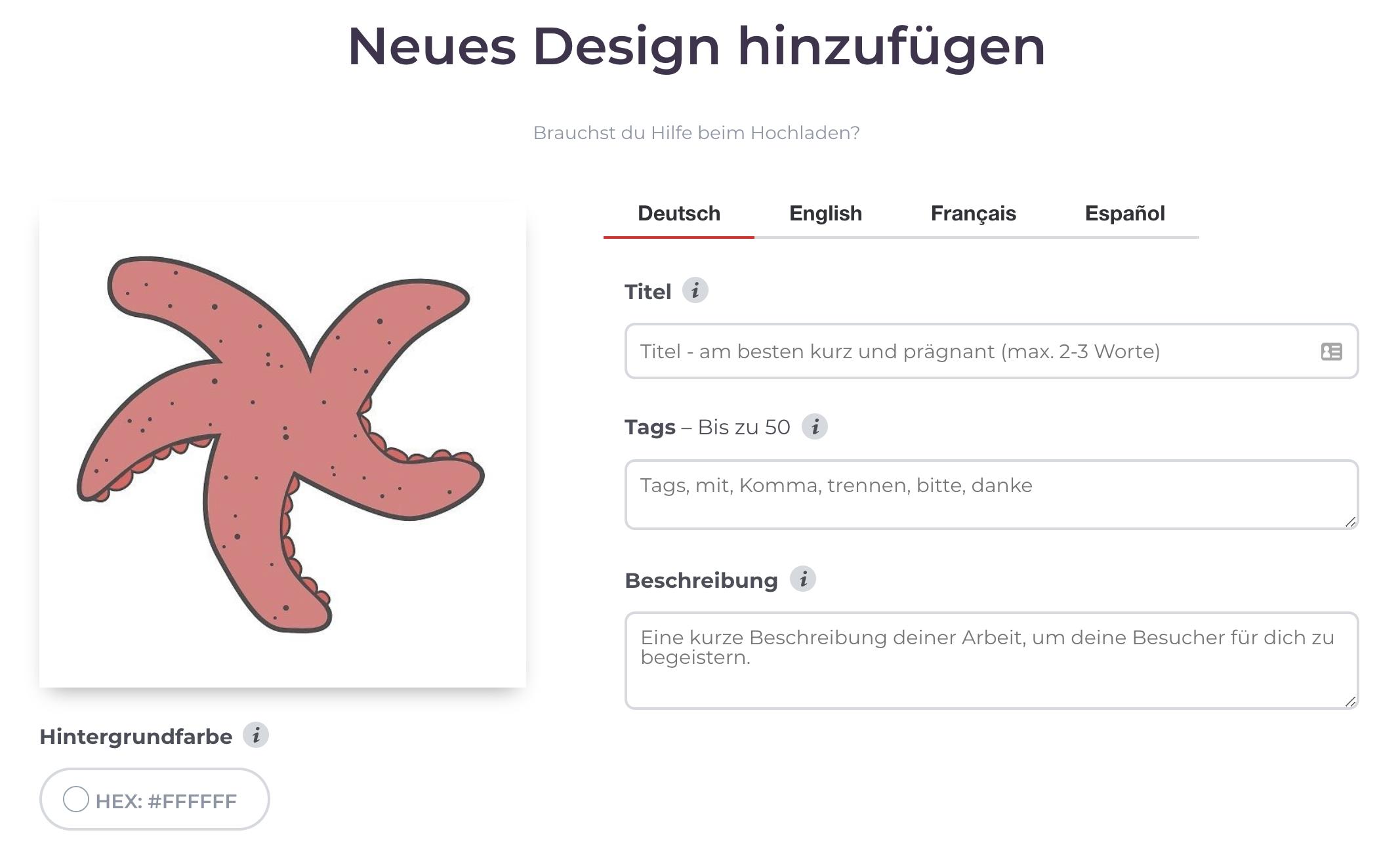 Titel für Designs